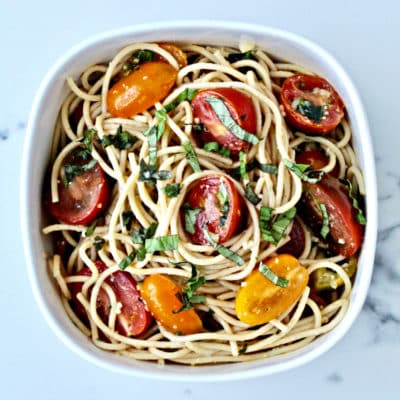 Pasta with No-Cook Tomato Sauce
