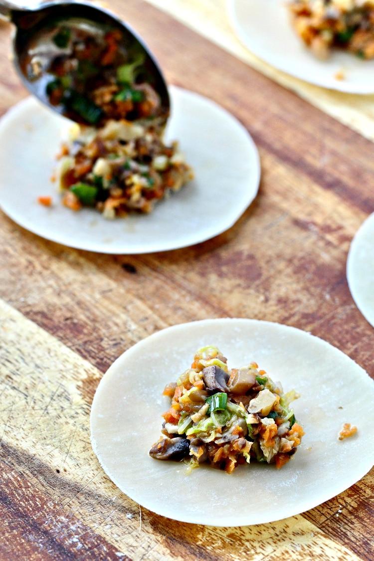 Vegetable Walnut Potstickers