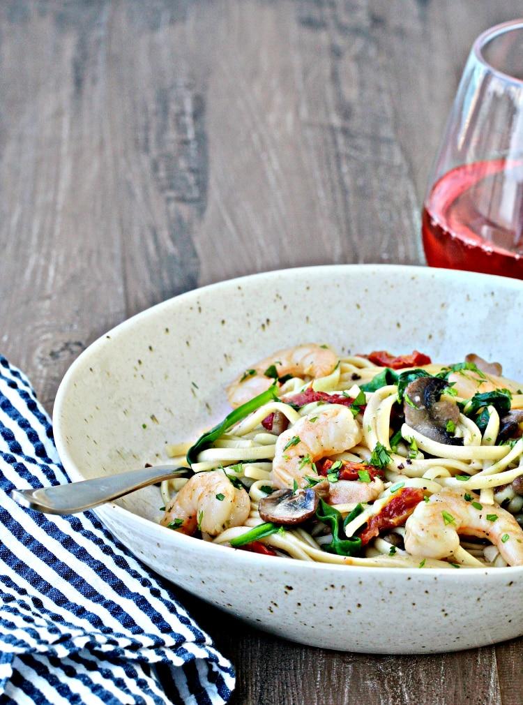 Mediterranean Shrimp Pasta