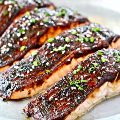 Miso Maple Glazed Salmon