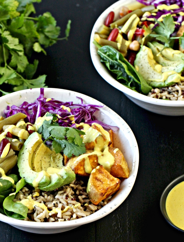 Buddha Bowl with Turmeric Tahini Sauce