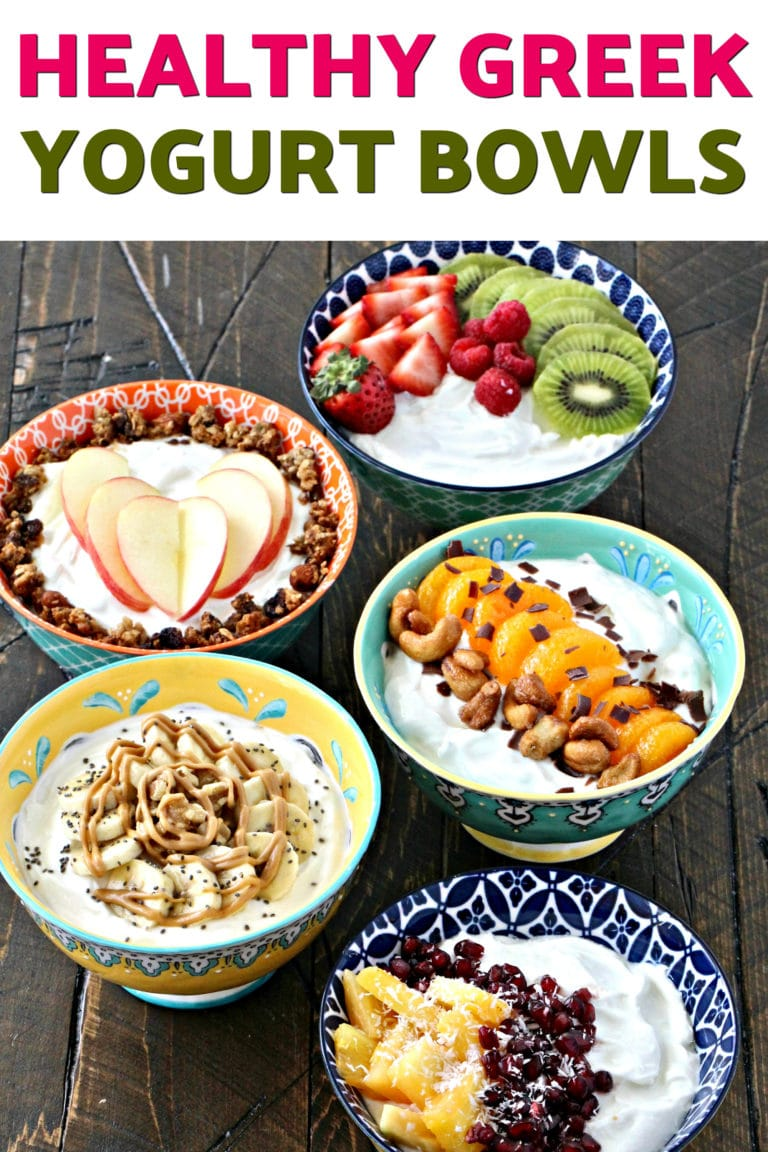 #AD Start the New Year off right with these nutritious and delicious yogurt bowls made with FAGE Total 2% Greek yogurt! @FAGEUSA #PlainExtraordinary #FAGE