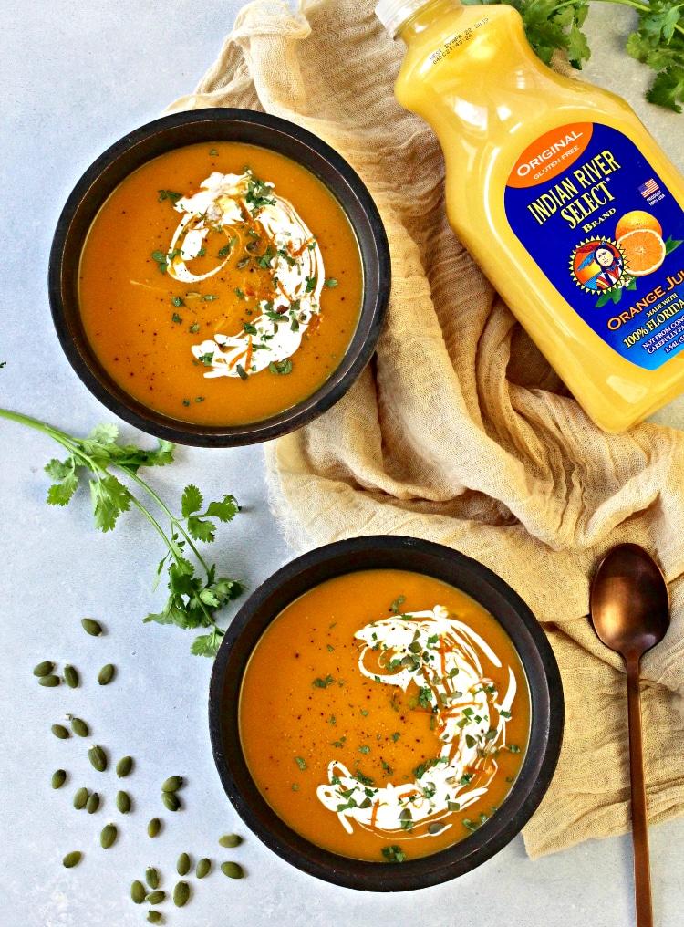 Orange-Scented Butternut Squash Soup