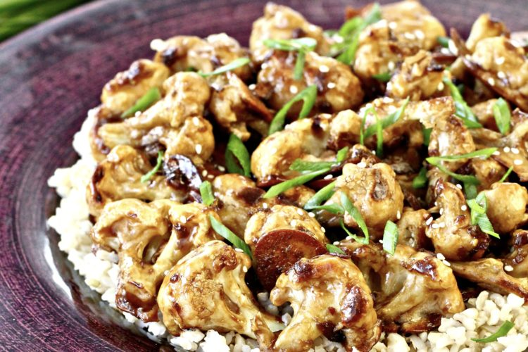Crispy Baked Sweet and Sour Cauliflower