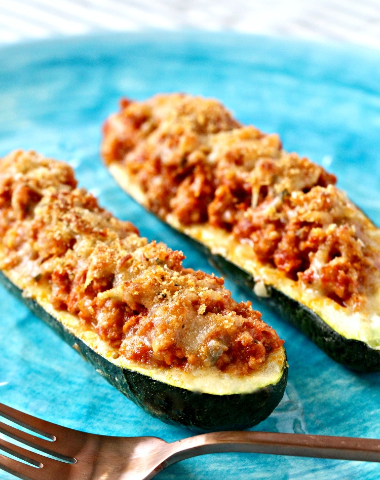 Turkey Stuffed Zucchini Boats